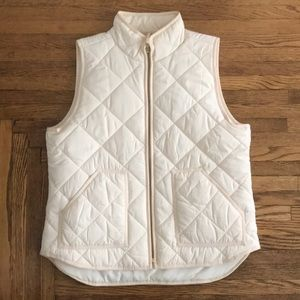 JCrew off-white vest